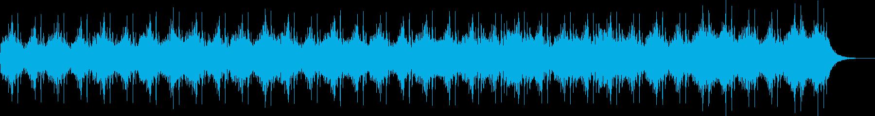 おどろおどろしい雰囲気の太鼓メインの曲の再生済みの波形