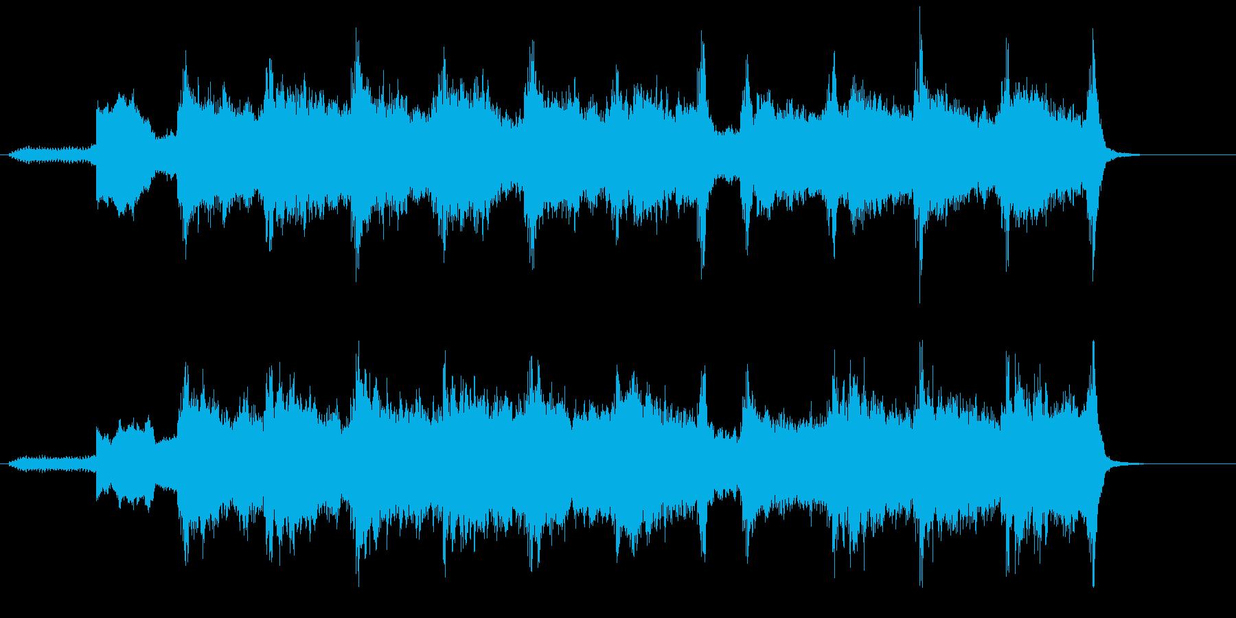緊張感を意図的に表した環境音楽風の再生済みの波形
