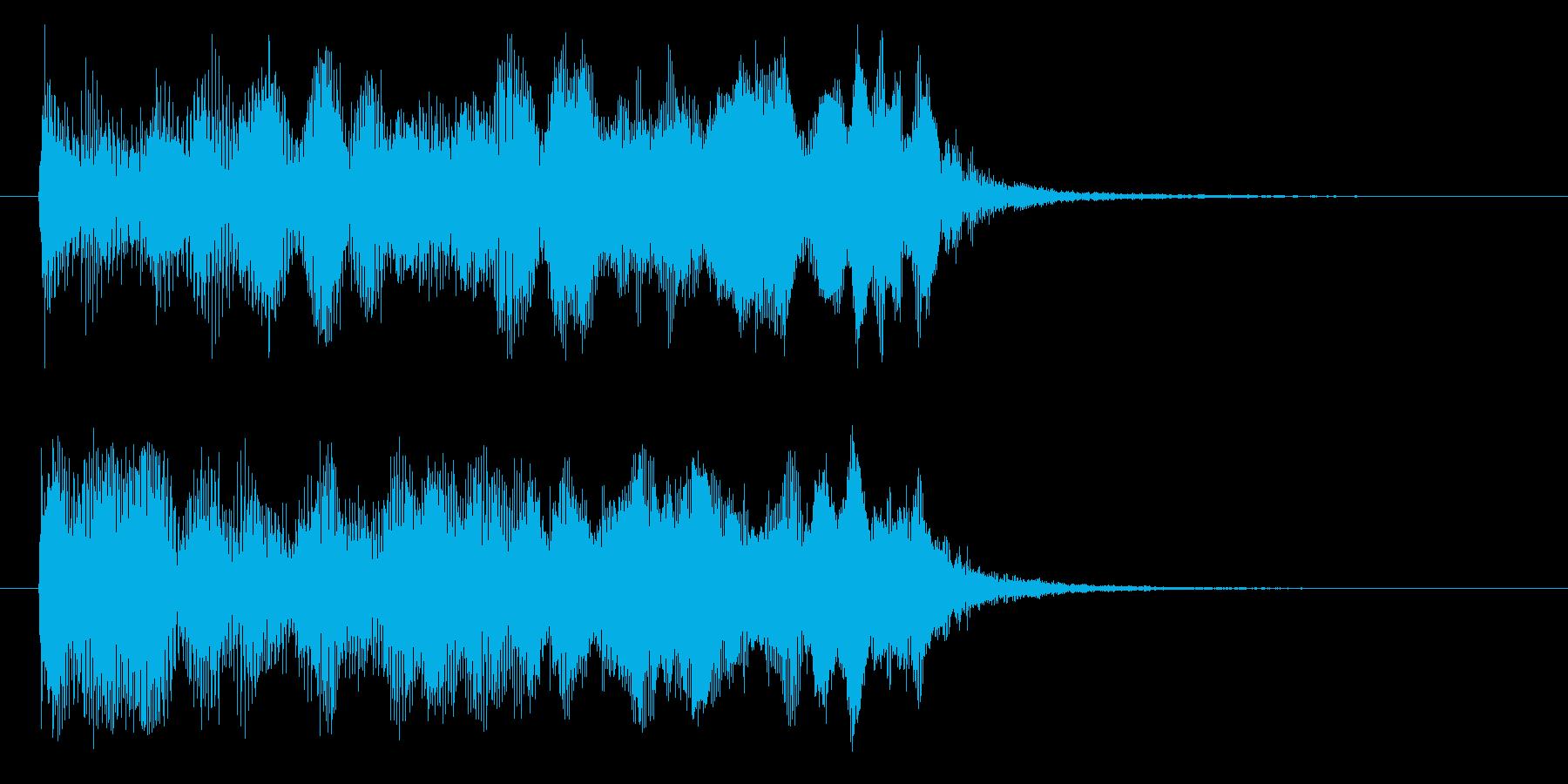 ジューーン(機械的な上昇音)の再生済みの波形