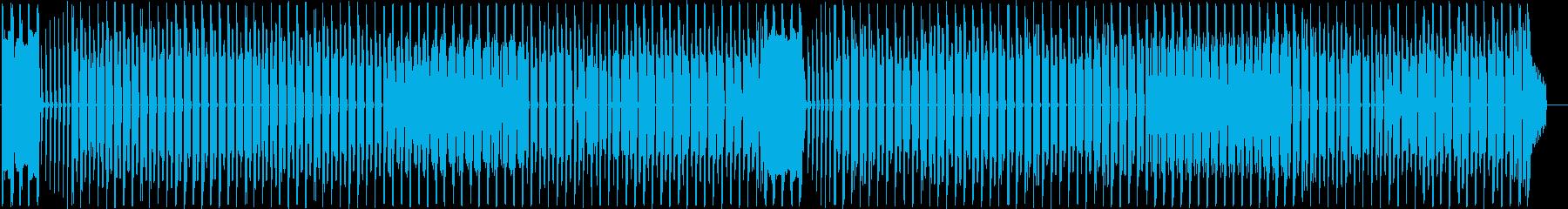 軽快なインフォメーションミュージックの再生済みの波形