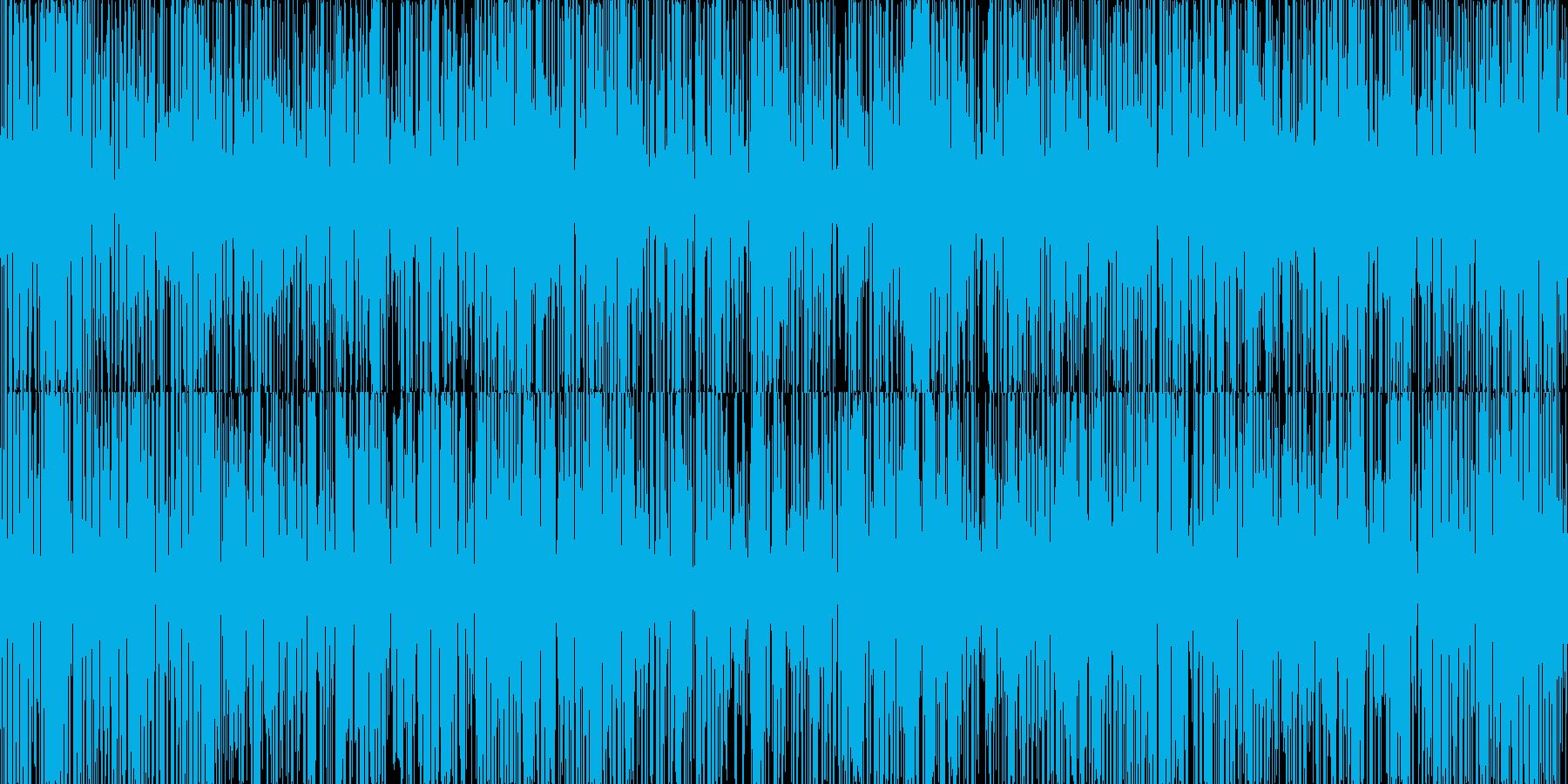 ザー。雨の音(短め)の再生済みの波形