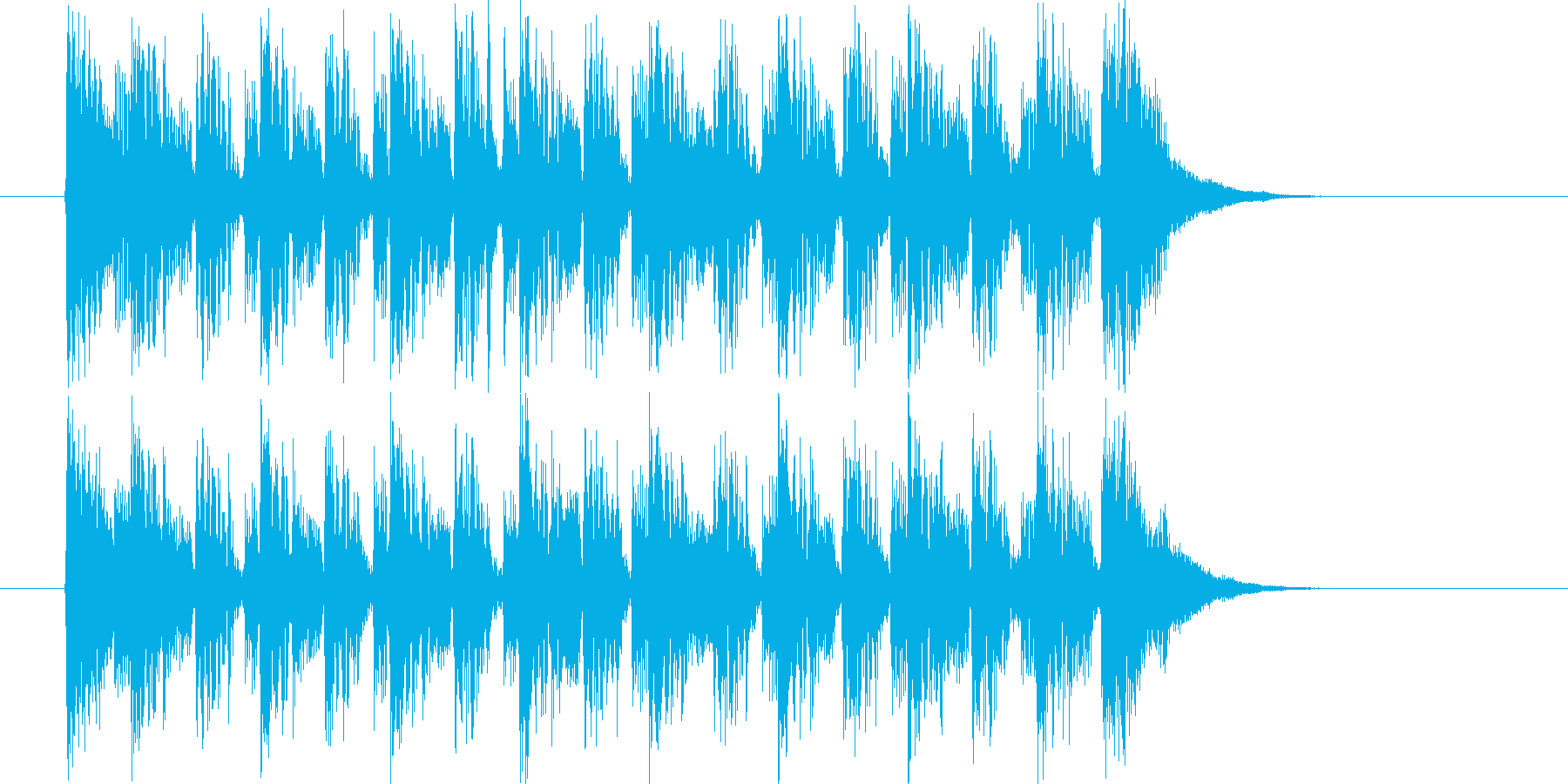 神秘的で近未来的なシンセとピアノジングルの再生済みの波形