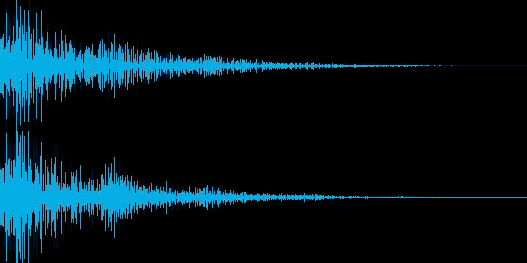 ボーン(キャンセル 決定 ワープ)の再生済みの波形