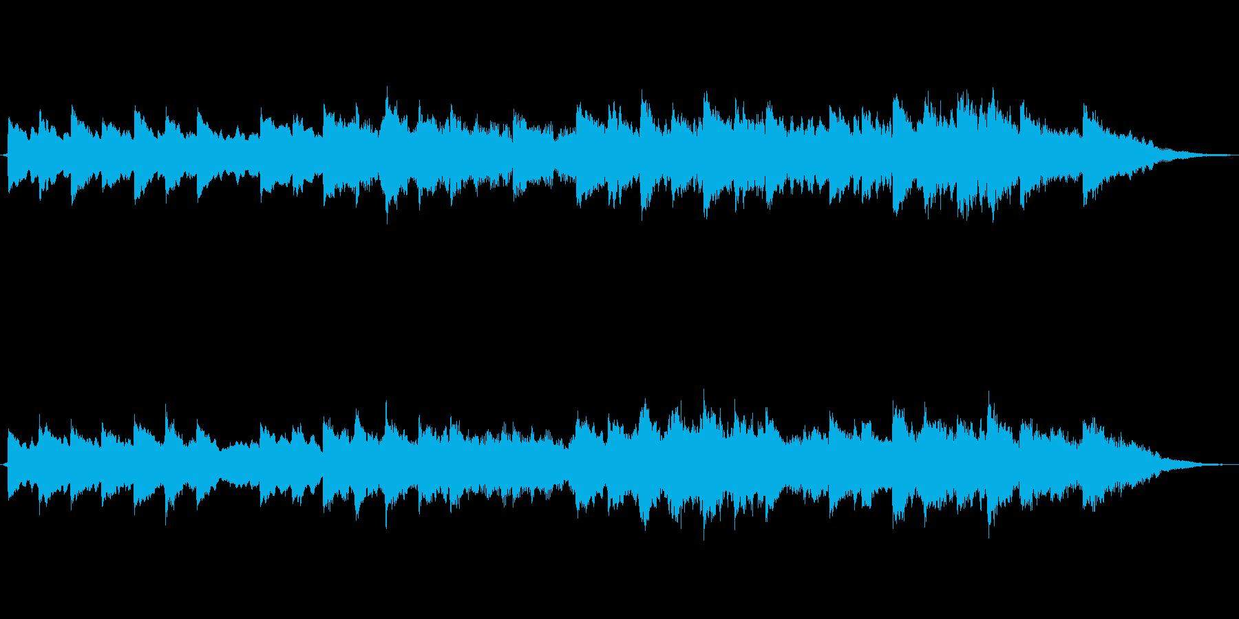 チェレスタとシンセの寂しげなジングルの再生済みの波形
