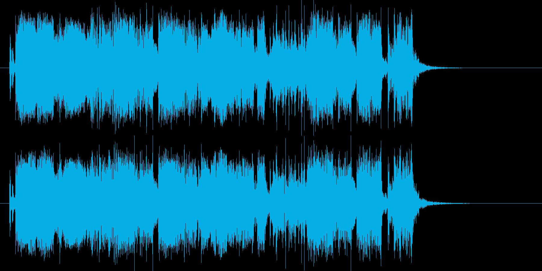 軽快でキャッチーなエレキロックジングルの再生済みの波形