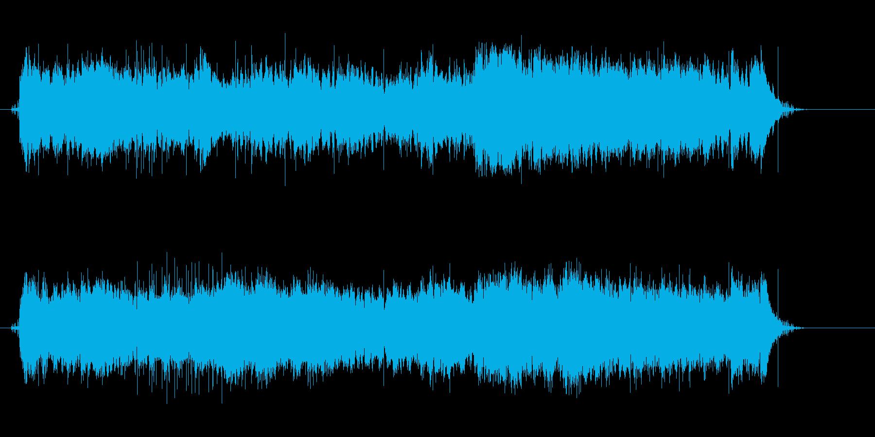 マカロニウェスタンの映画音楽の再生済みの波形