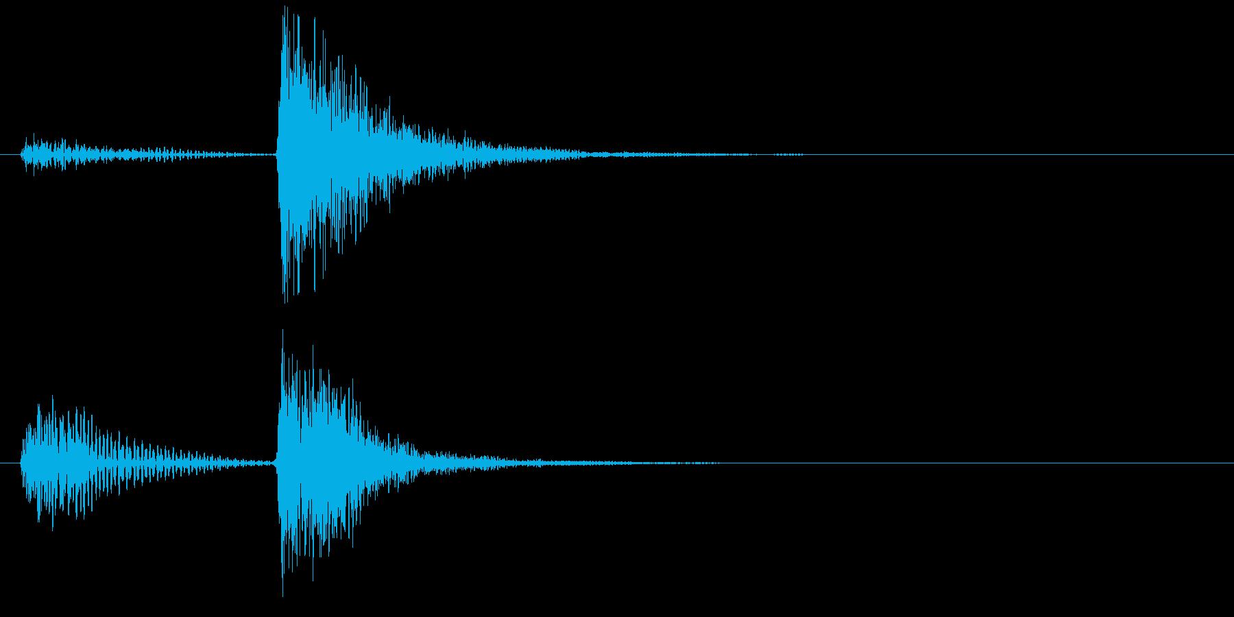 ストリングスのピッチカートによる〆の和音の再生済みの波形
