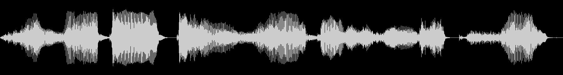 このデータをロードしますか?の未再生の波形