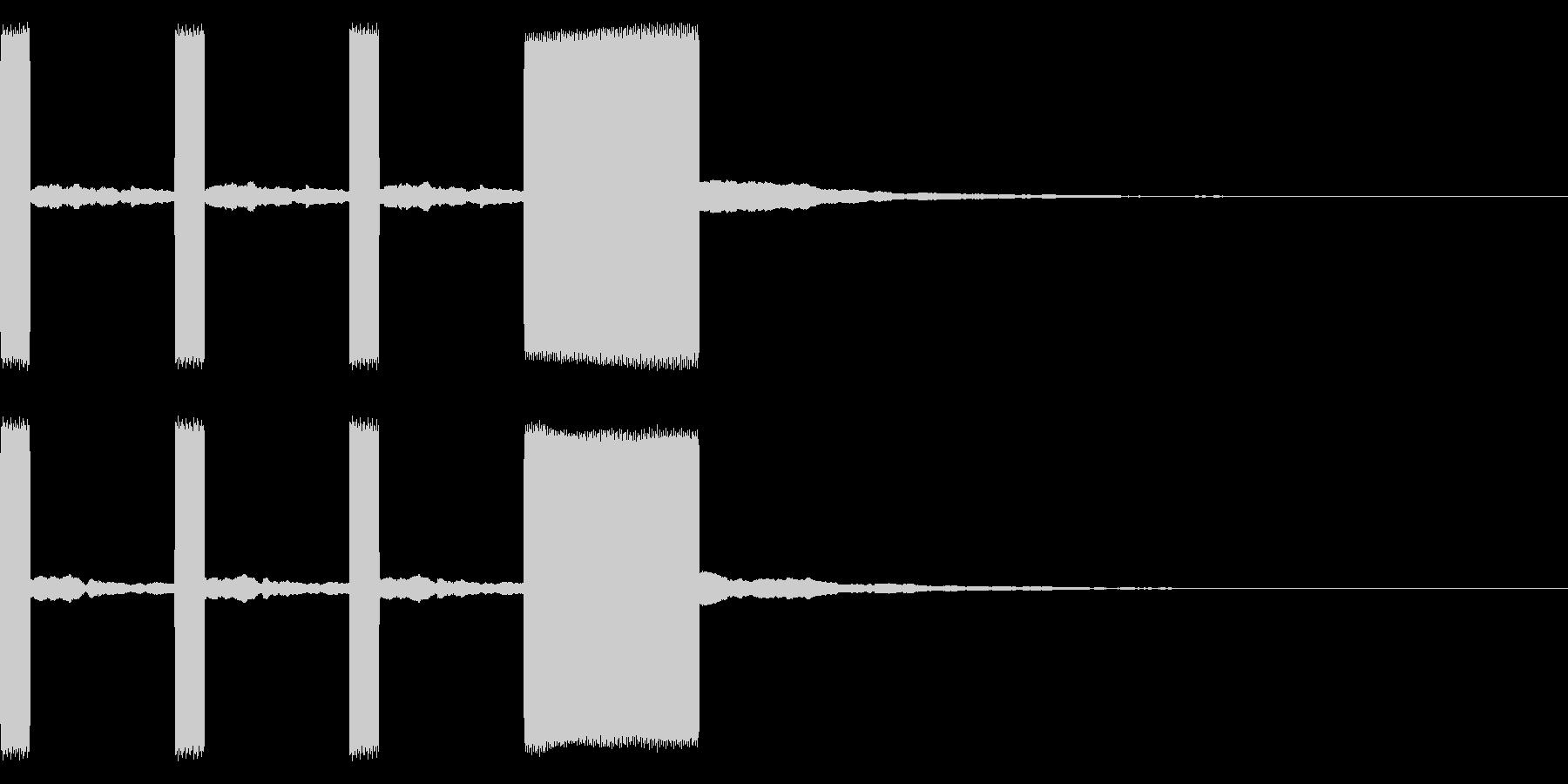 時報2 カウントダウン 電子音 レースの未再生の波形