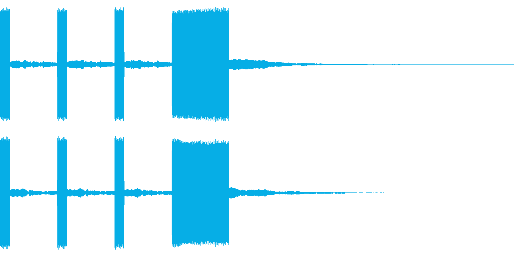 時報2 カウントダウン 電子音 レースの再生済みの波形