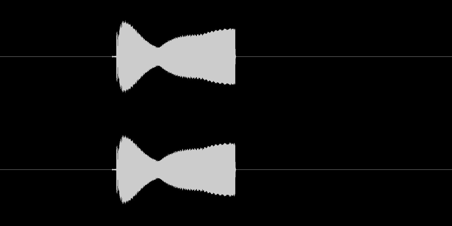 プィーーン!電子音の未再生の波形