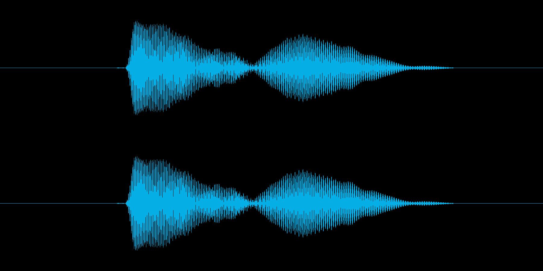 かわいいキャンセル音の再生済みの波形