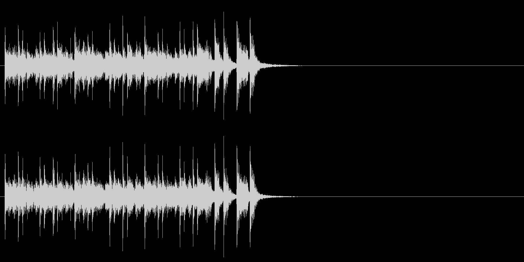 軽快で楽しいピアノアンサンブルの未再生の波形
