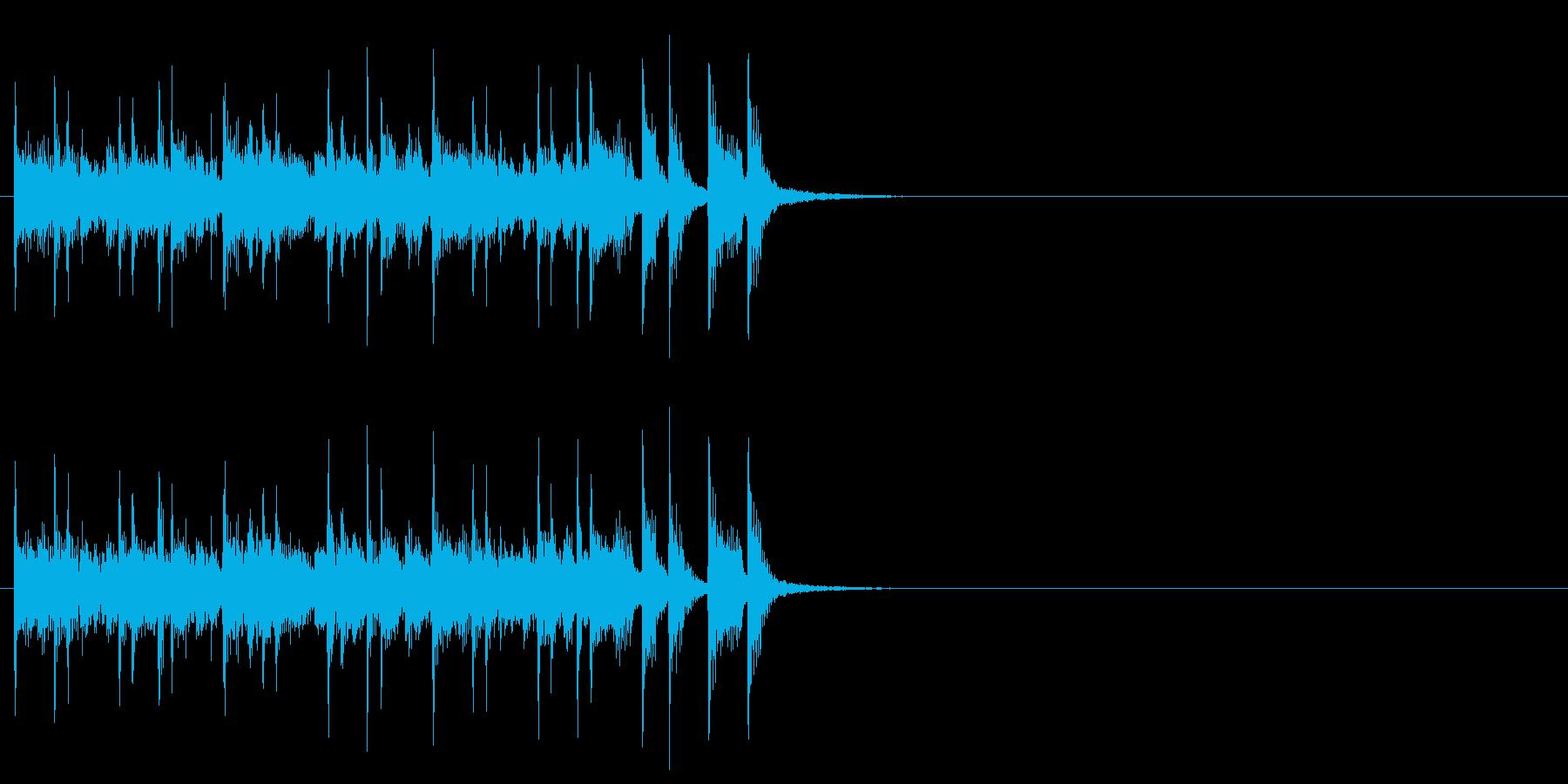 軽快で楽しいピアノアンサンブルの再生済みの波形
