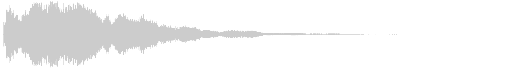 鐘の音でホラー系に使えますの未再生の波形