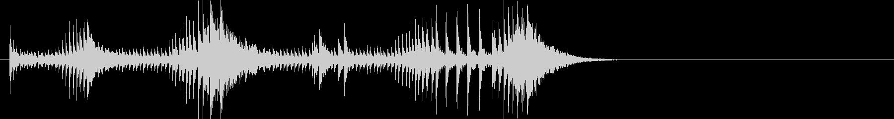 登場 ドラムロールの未再生の波形