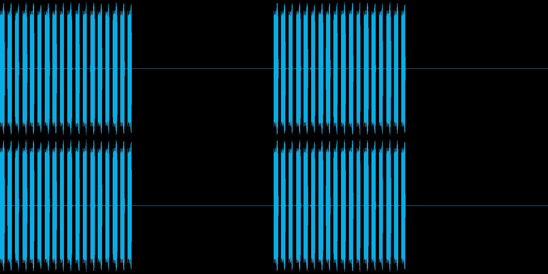 携帯電話の着信音1の再生済みの波形