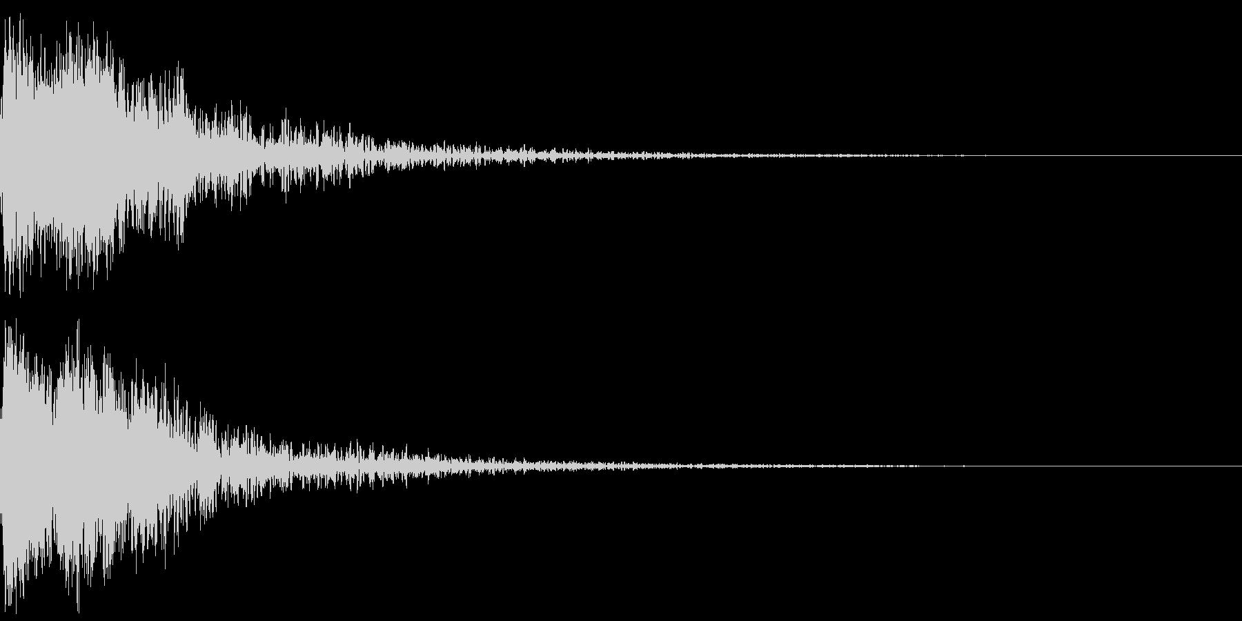 和風 オーケストラヒット ジングル!03の未再生の波形