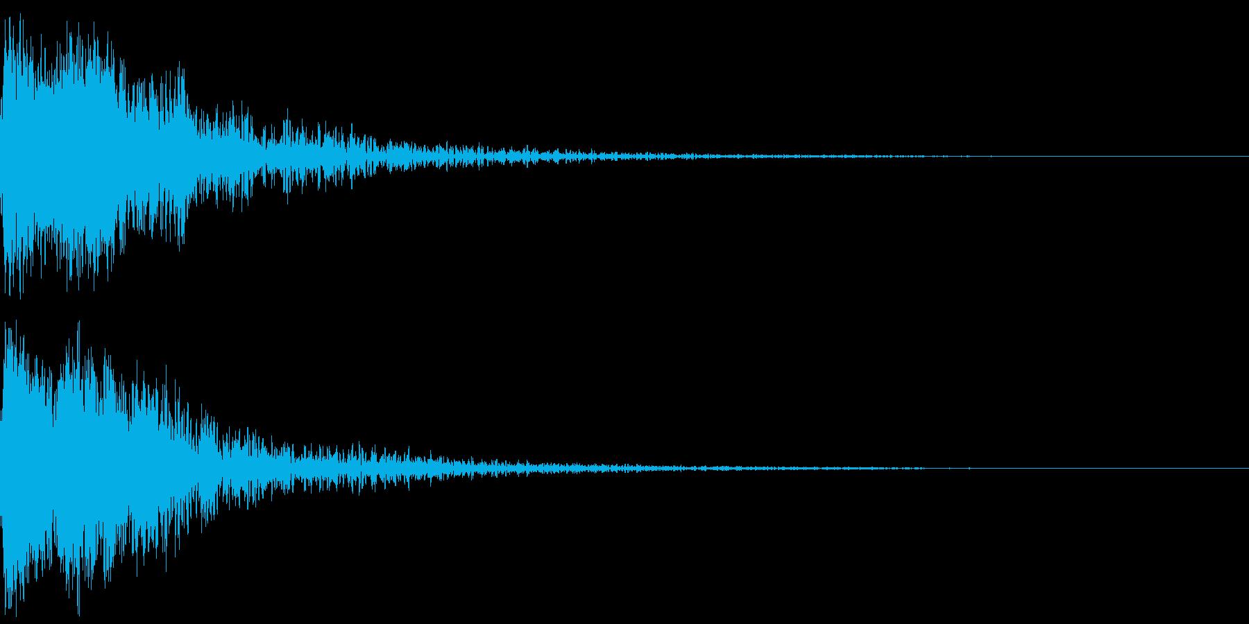 和風 オーケストラヒット ジングル!03の再生済みの波形