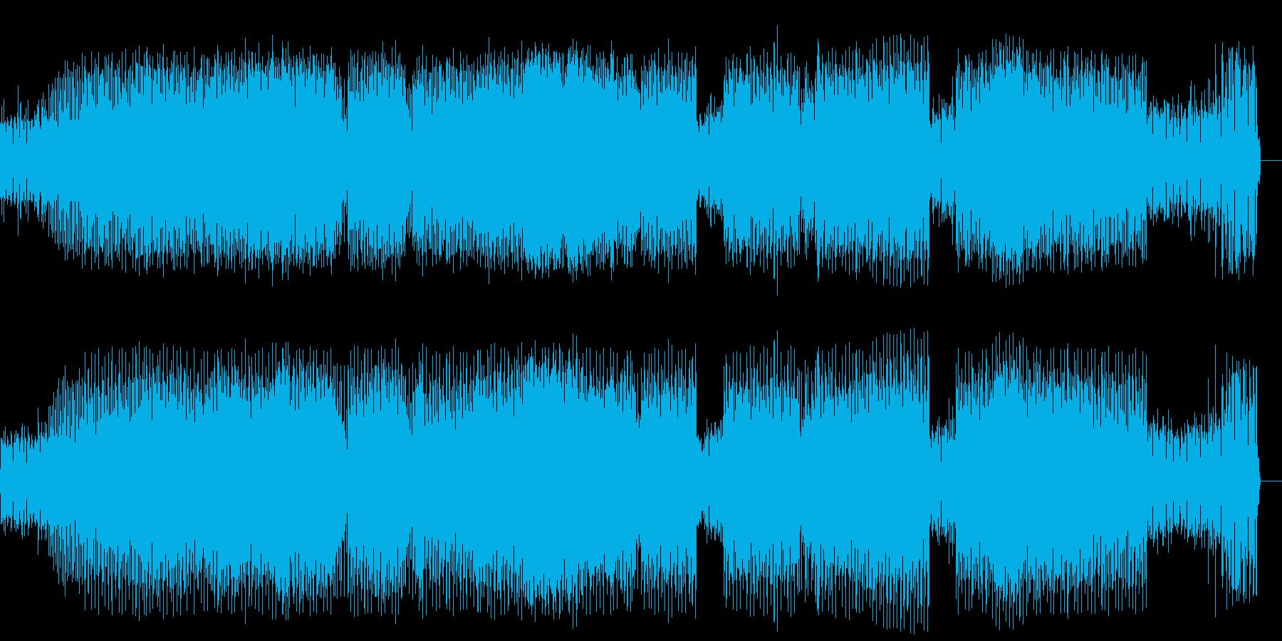 無機質感、緊張感に包まれるハードコアの再生済みの波形