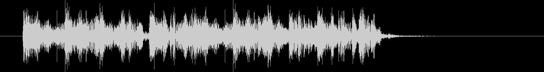 ヒップホップのサウンド風なジングルの未再生の波形