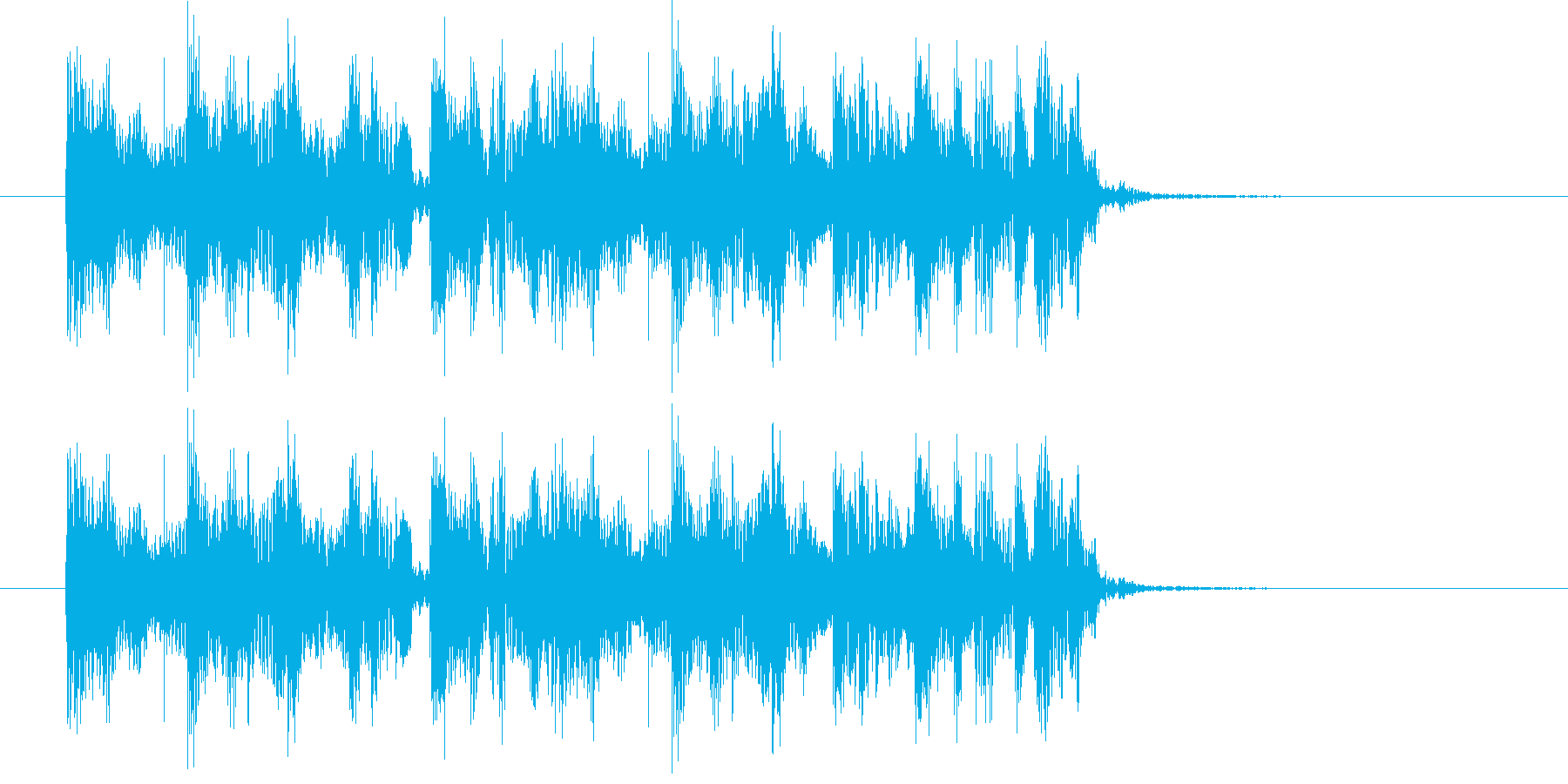 ヒップホップのサウンド風なジングルの再生済みの波形