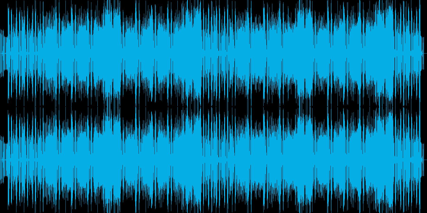 ダンスビートとへヴィーリフの組み合わせの再生済みの波形