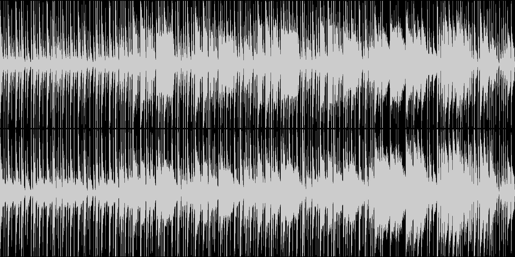 日常系アニメのほのぼのした一幕の未再生の波形