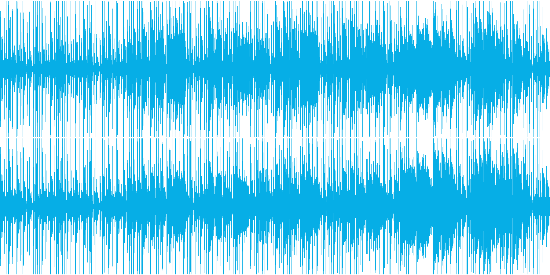 日常系アニメのほのぼのした一幕の再生済みの波形