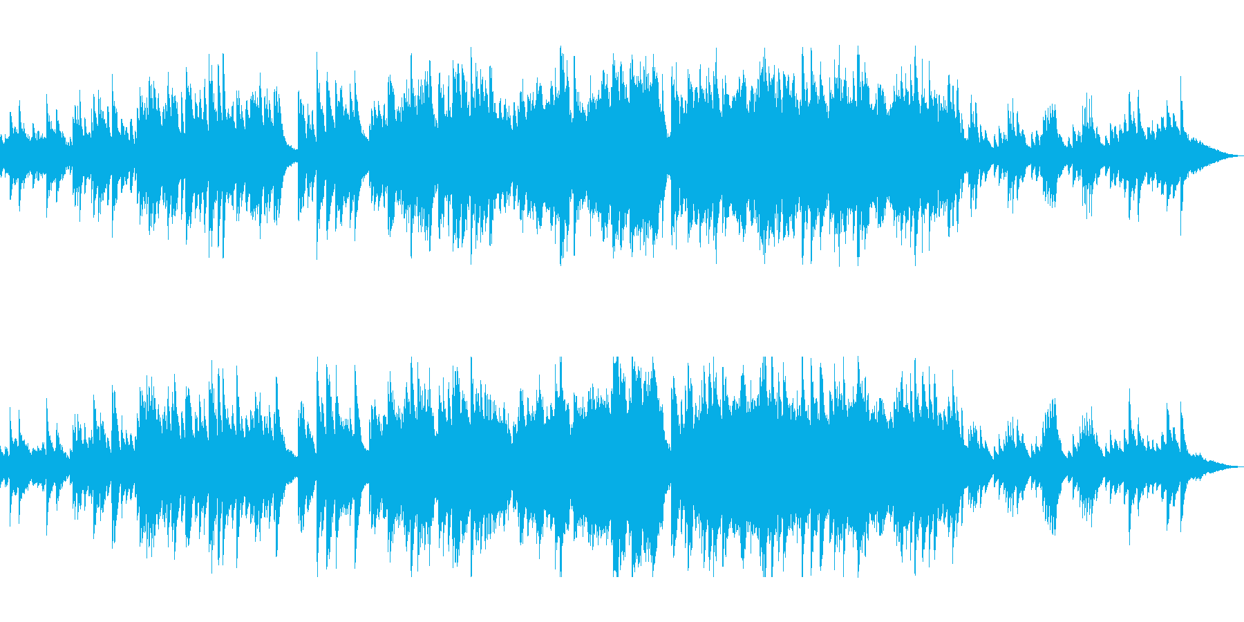 ピアノとストリングスのヒーリングの再生済みの波形