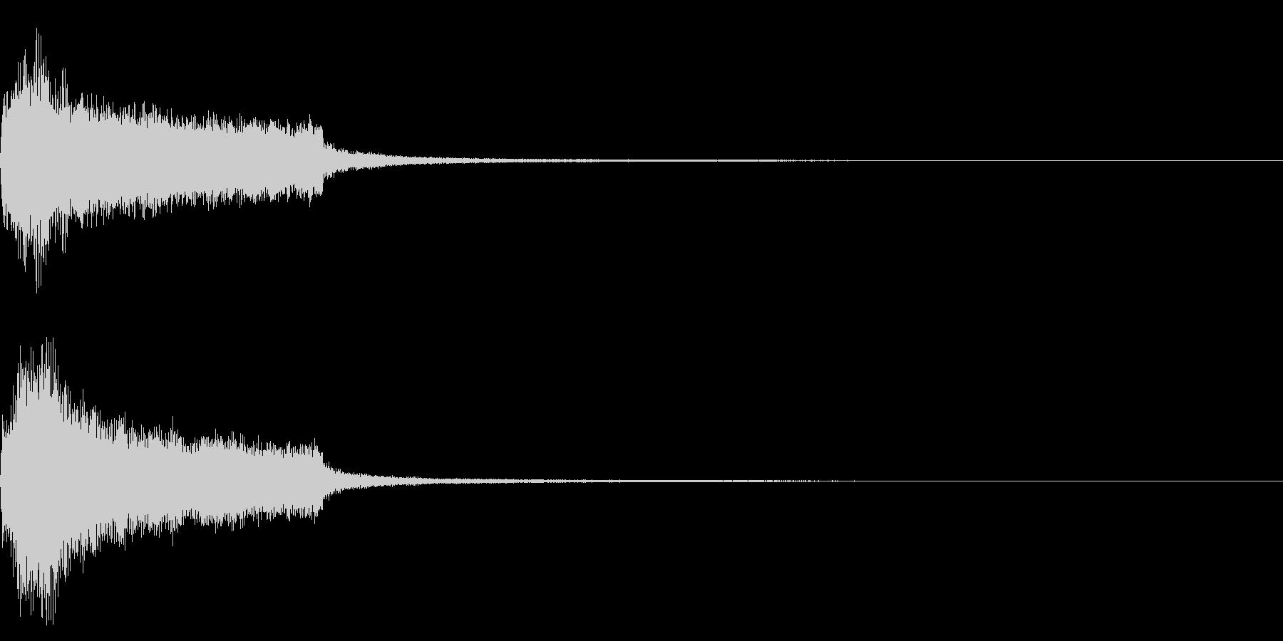 効果音 完了 ファンファーレ テッテレーの未再生の波形