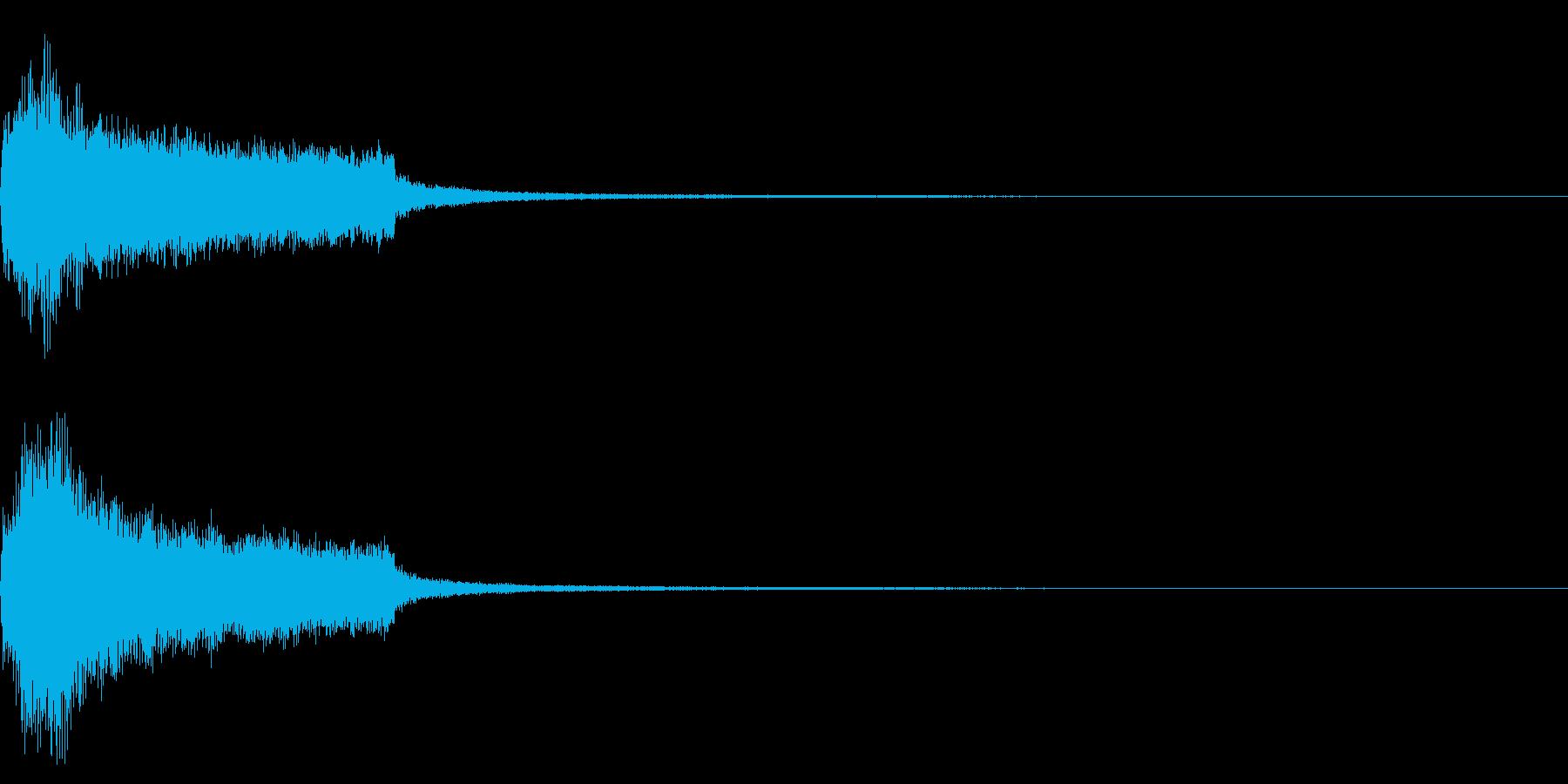 効果音 完了 ファンファーレ テッテレーの再生済みの波形