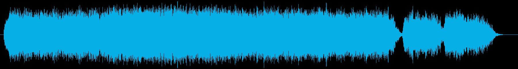 ちょっとホラーな耳障りな音の再生済みの波形