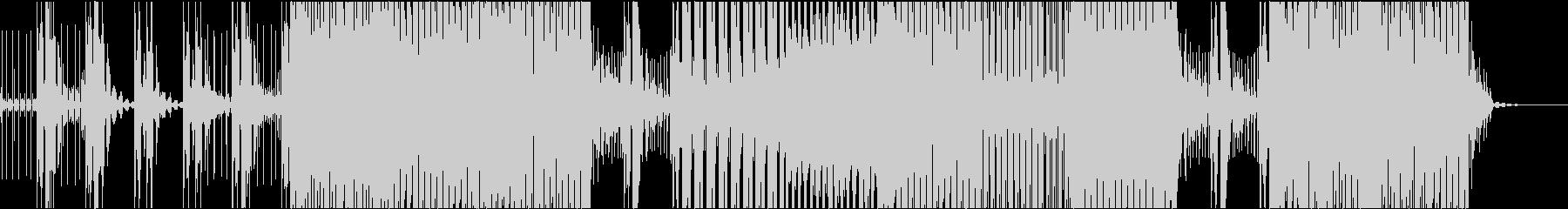テクノ風BGMの未再生の波形