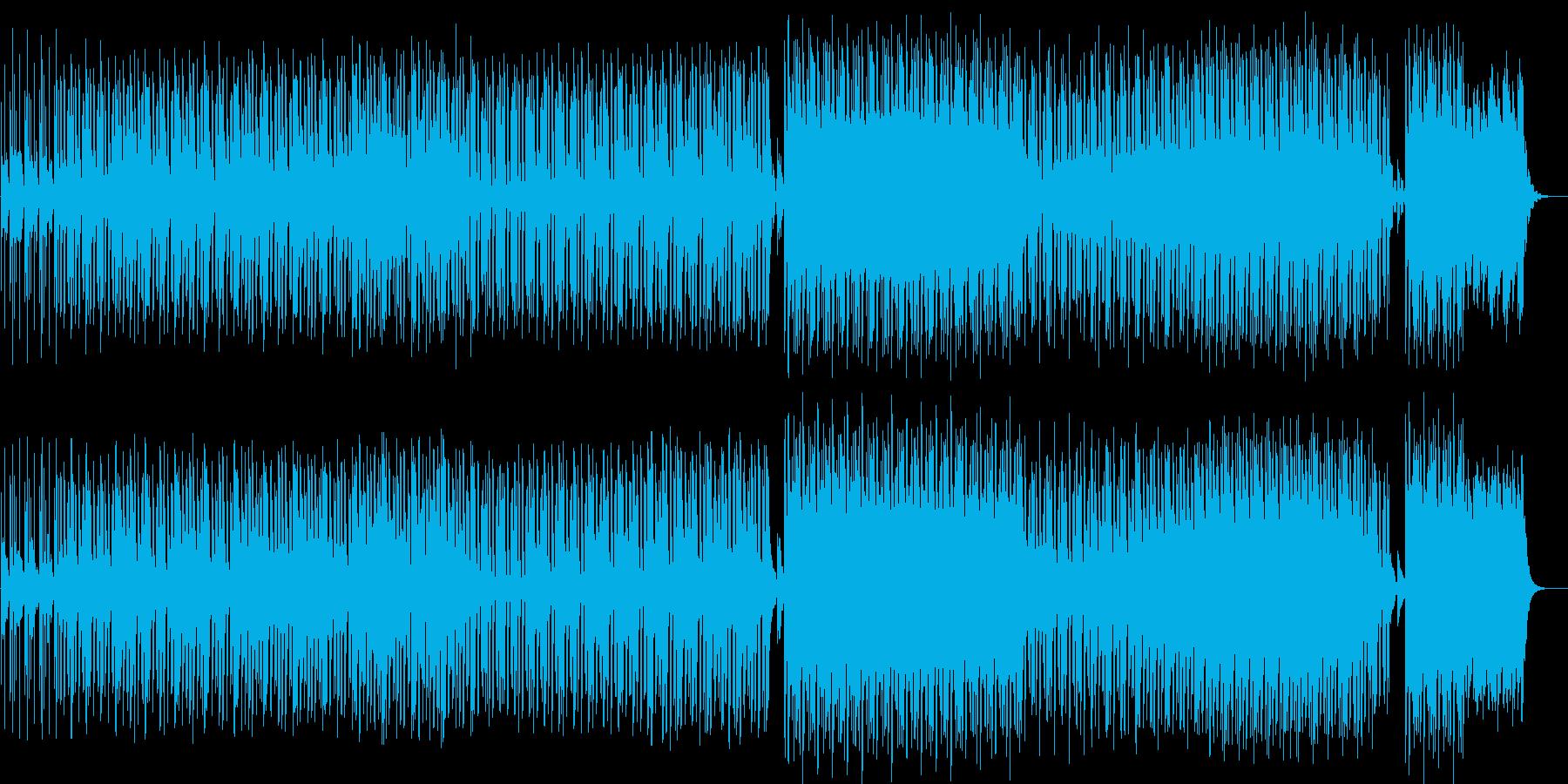 楽しくなるようなテクノの再生済みの波形
