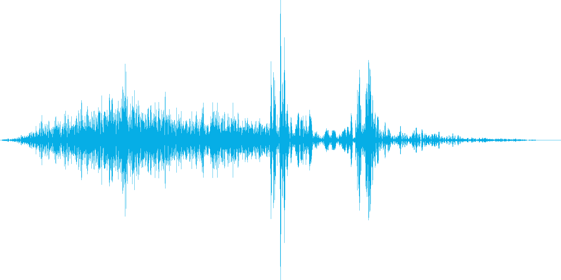 ペラ(カードをめくる音)の再生済みの波形