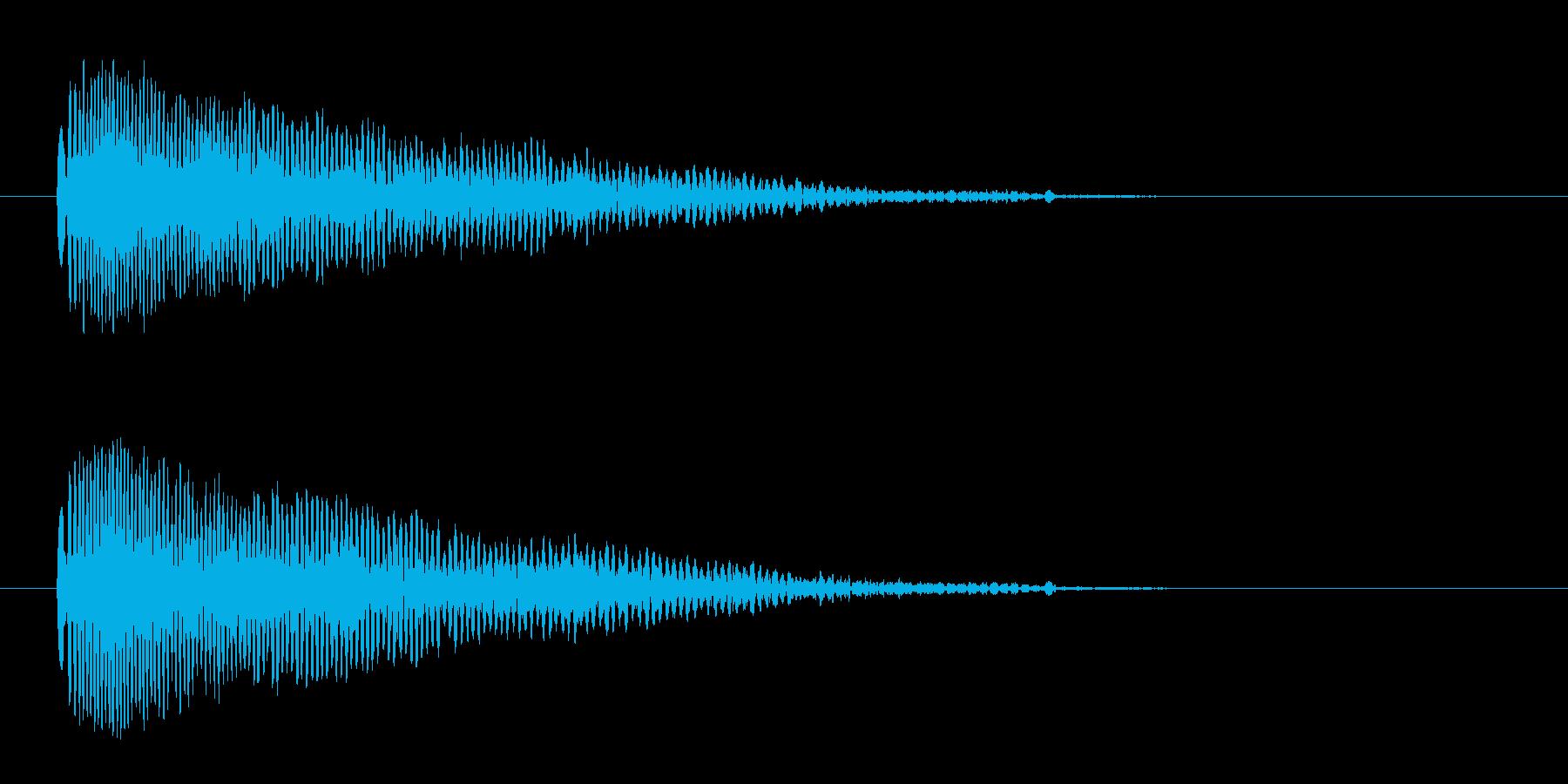 「ピュ〜!」警笛による鳥の鳴き声の擬音の再生済みの波形