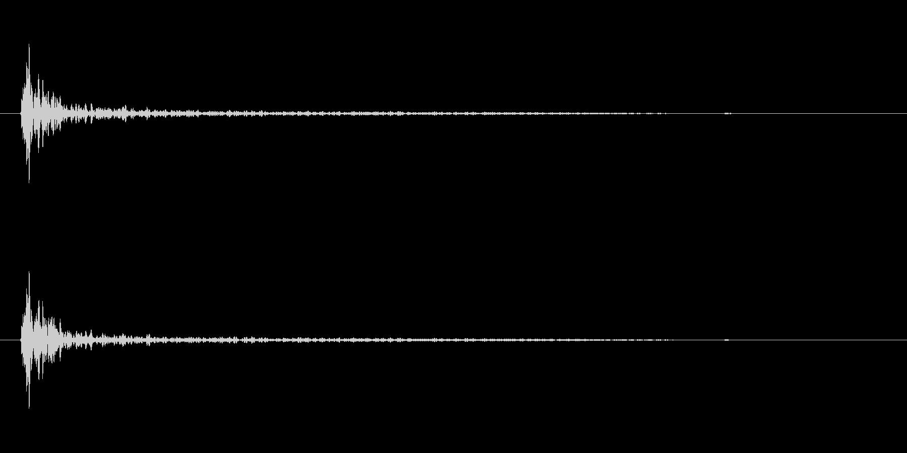 大砲の音バリエーション2の未再生の波形
