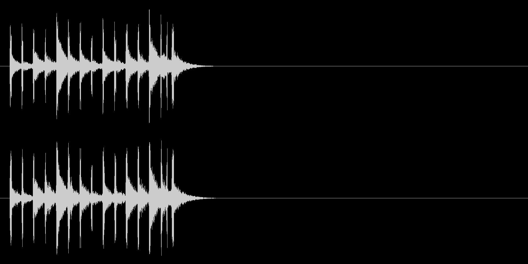 コミカル・タッチジングルの未再生の波形