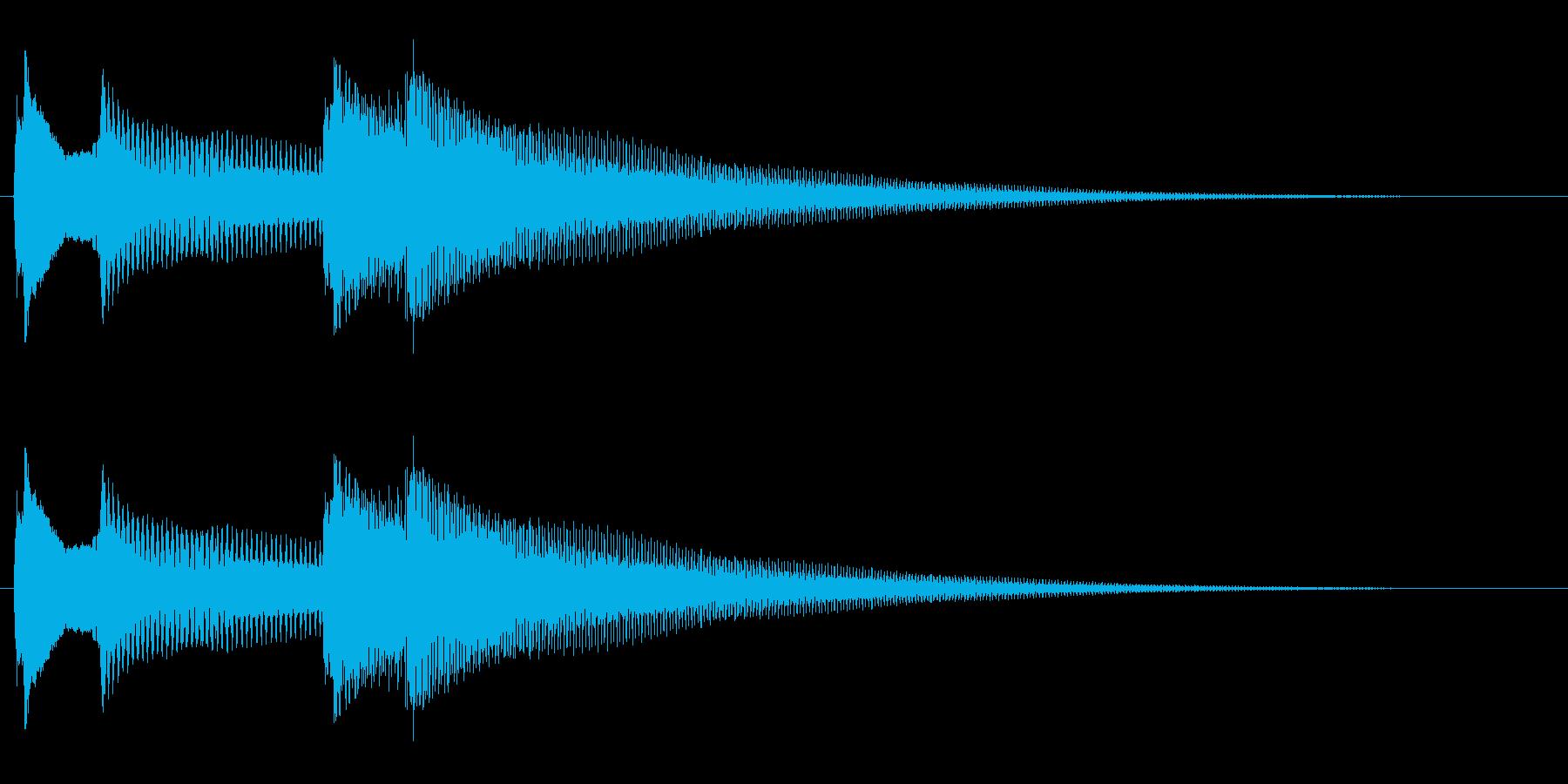 ピコーンピコーン(明るいお知らせ音)の再生済みの波形