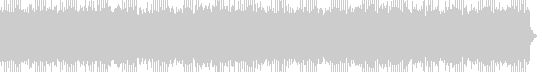 ニュース番組・インダストリーBGMの未再生の波形