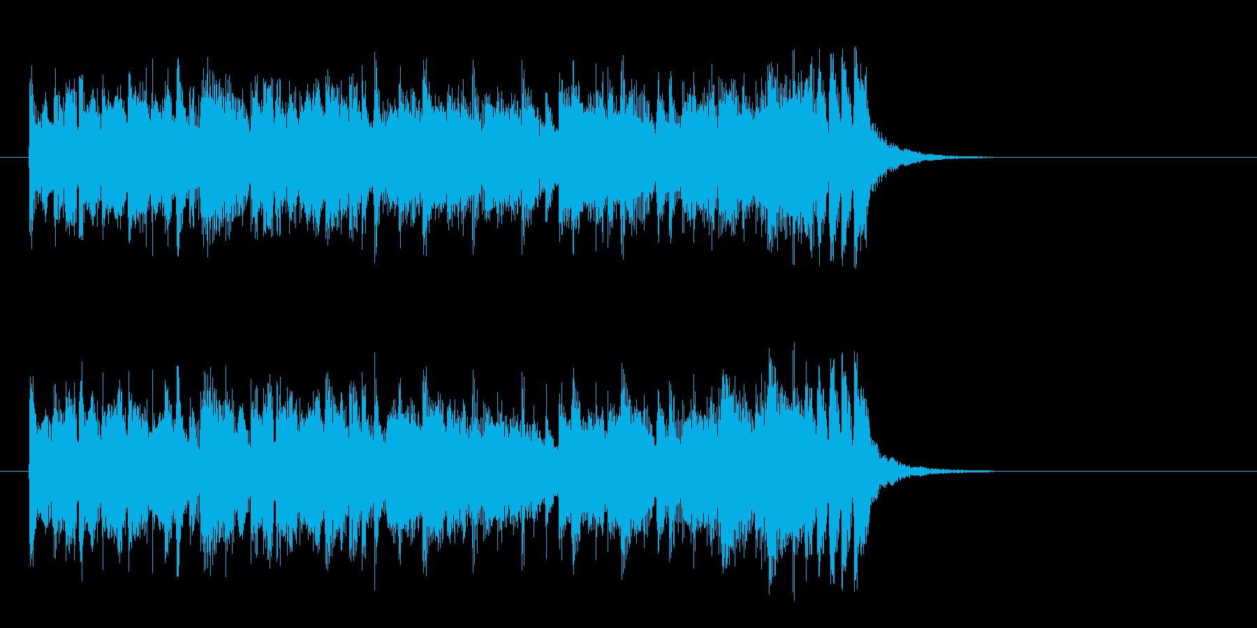 爽やかで軽やかなポップス(サビ)の再生済みの波形