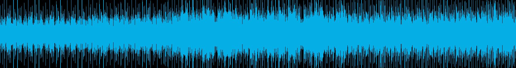 ゲーム等に使えるエレクトリックなループ曲の再生済みの波形