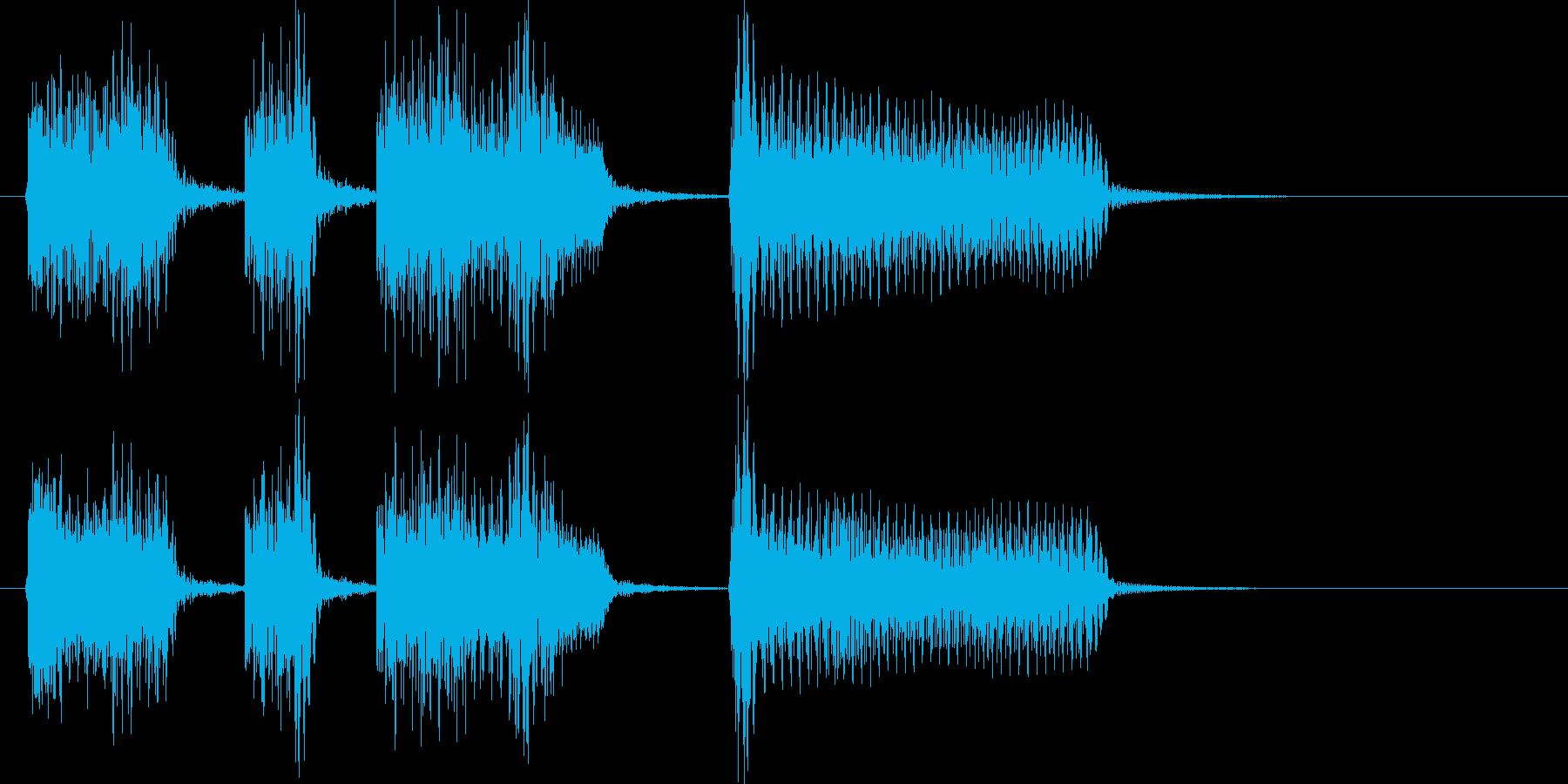 サックスピアノ陽気にダンスファンクの再生済みの波形