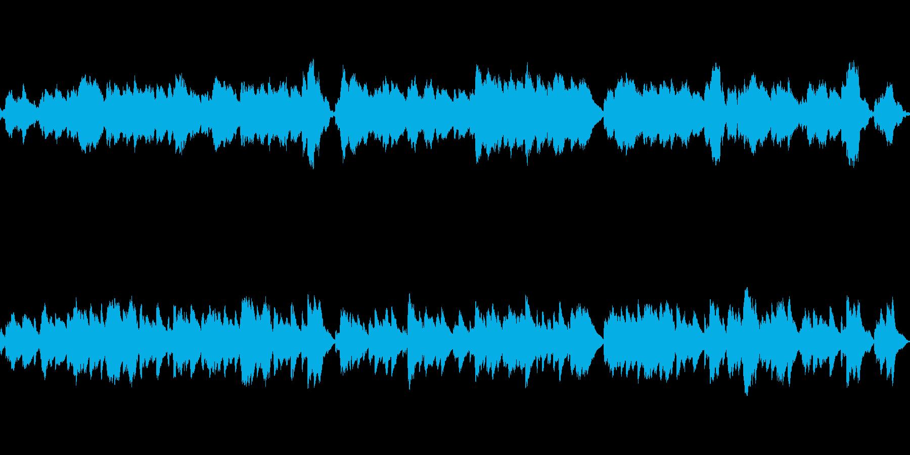 魔法をイメージしたオルゴール曲・ループ版の再生済みの波形