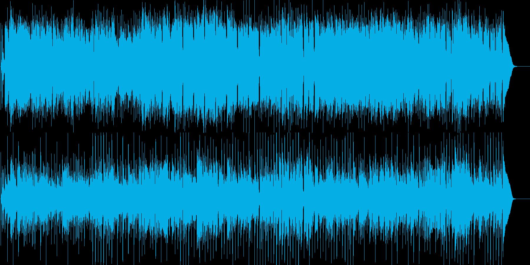 怪しげで淡々とした雰囲気のBGMの再生済みの波形