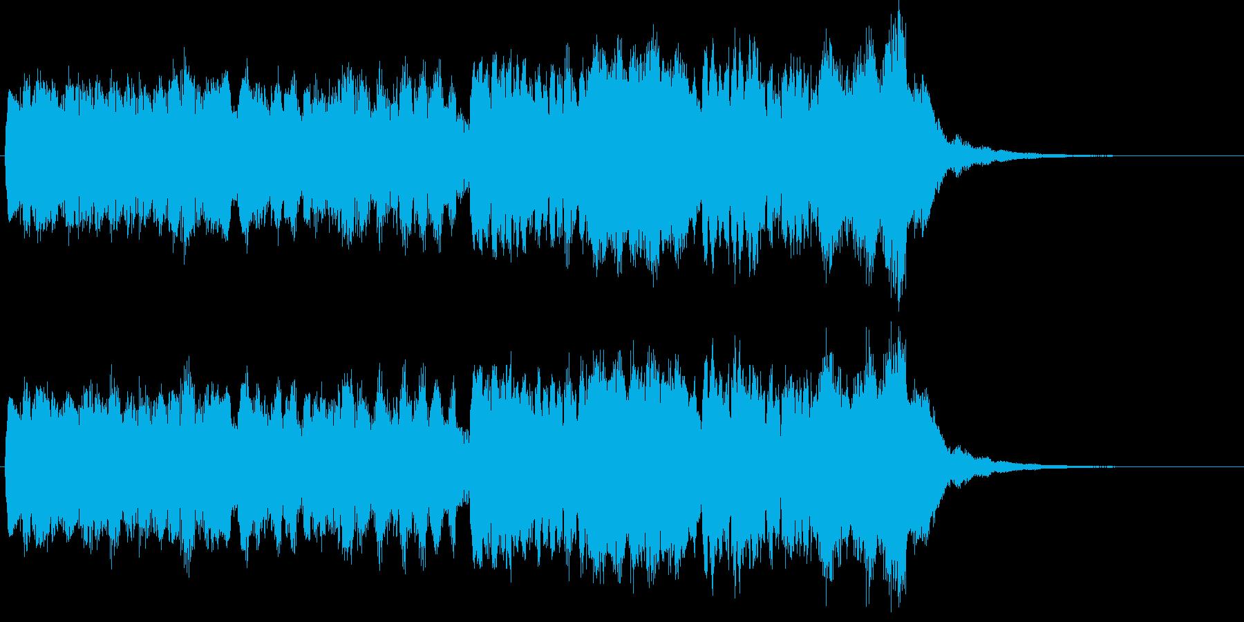 あかるいジングル(チャイム)の再生済みの波形