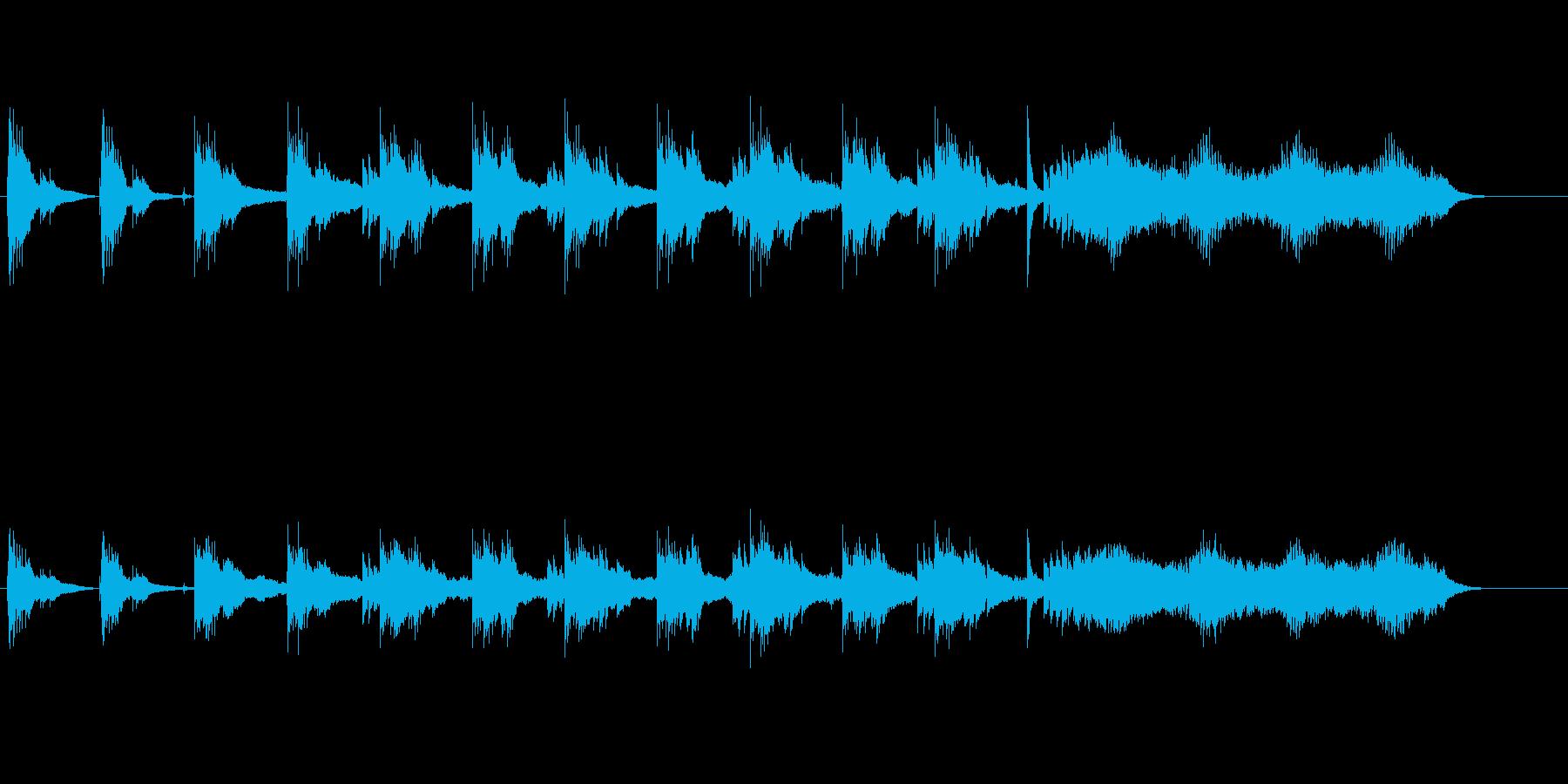水辺を思わせる素朴で端正な環境音楽の再生済みの波形