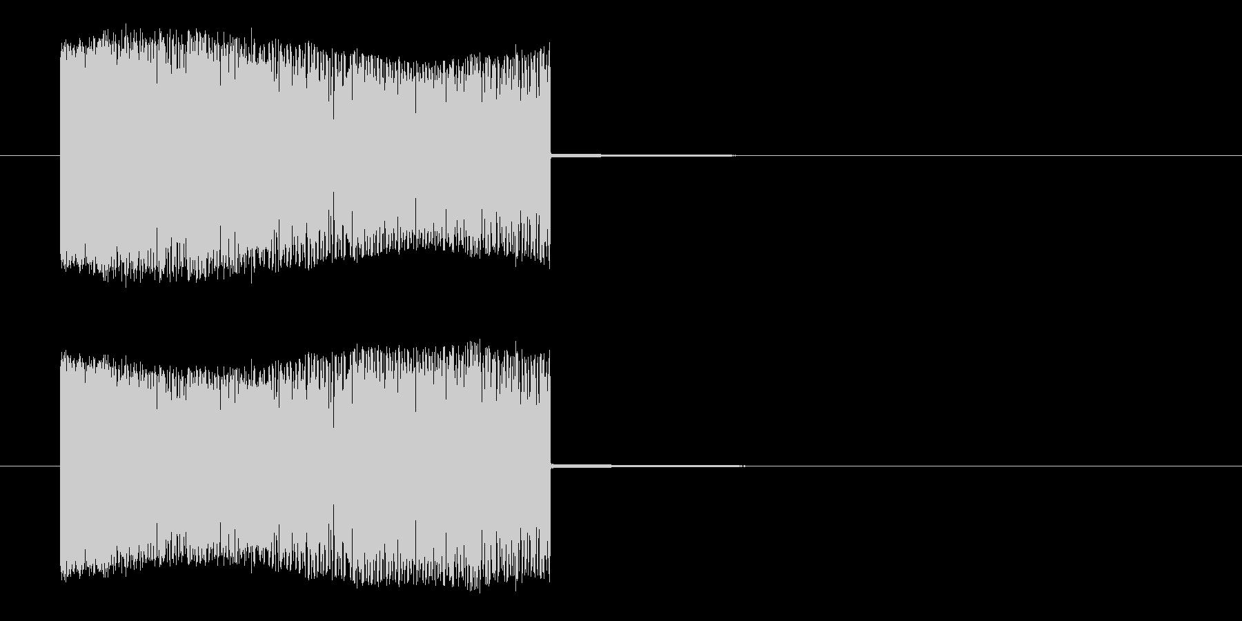 高圧感電の未再生の波形