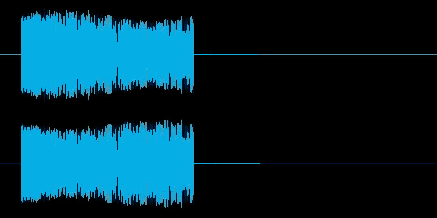 高圧感電の再生済みの波形